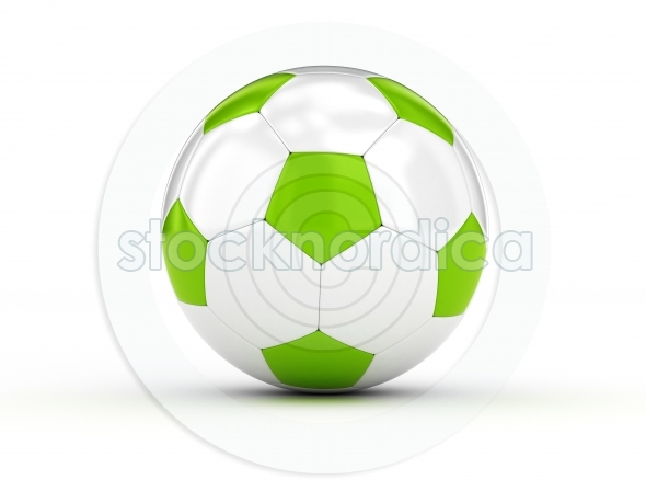 Soccer ball white and green