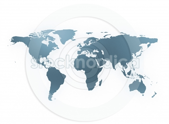 world map blue isolated on white