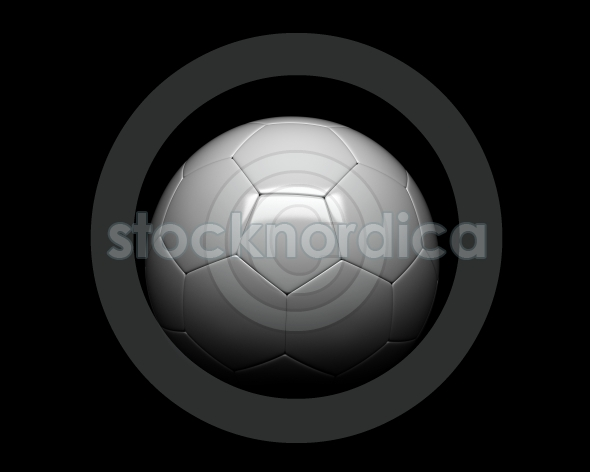 Closeup Of A Soccer Ball On A Dark Background