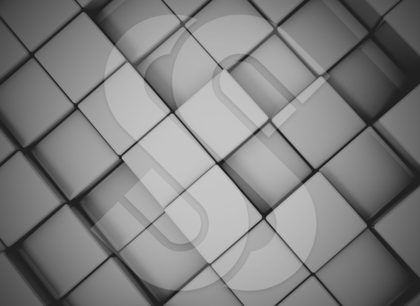 Dark 3d cubes digital background