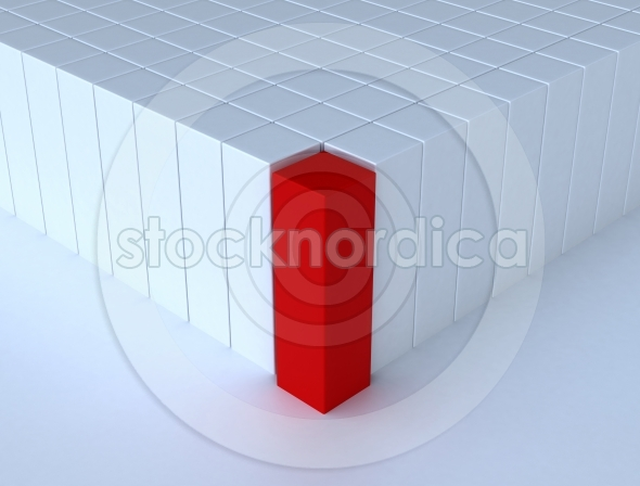 Individuality concept red cube
