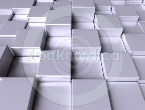 abstract image of cubes background blue toned