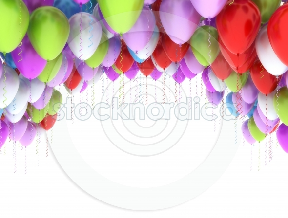 bright bunch of colorful balloons