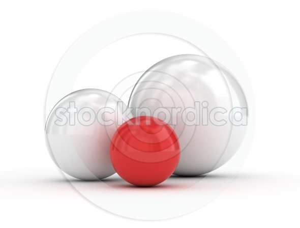 Red unique glossy ball