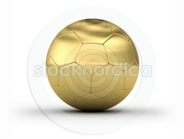 Golden Soccer Ball white background