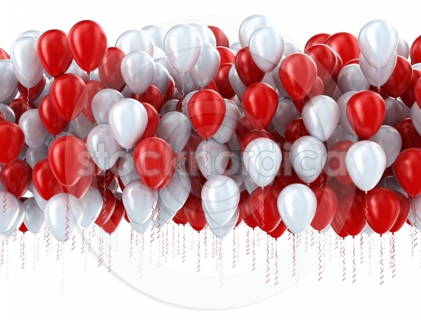 Red And White Party Balloons Stocknordica Com