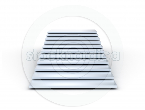 Blue staircase on white background
