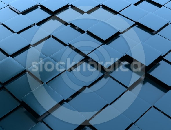 3D abstract cubes building concept