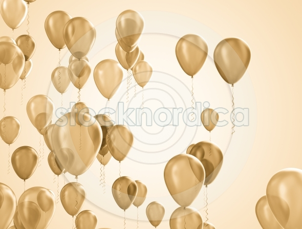 Gold party balloons birthday decoration