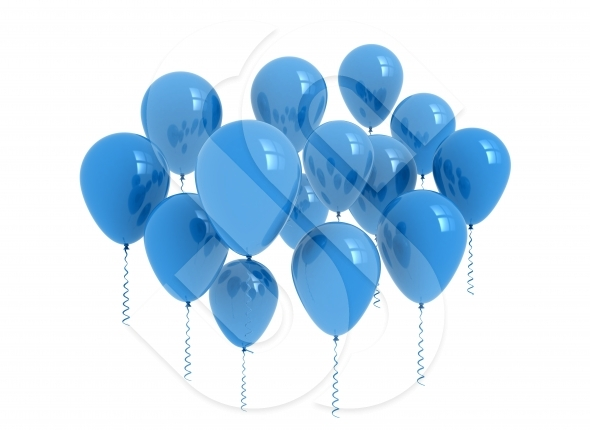 Balloons – blue balloons isolated on white