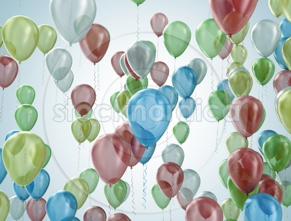 Balloons party celebration background