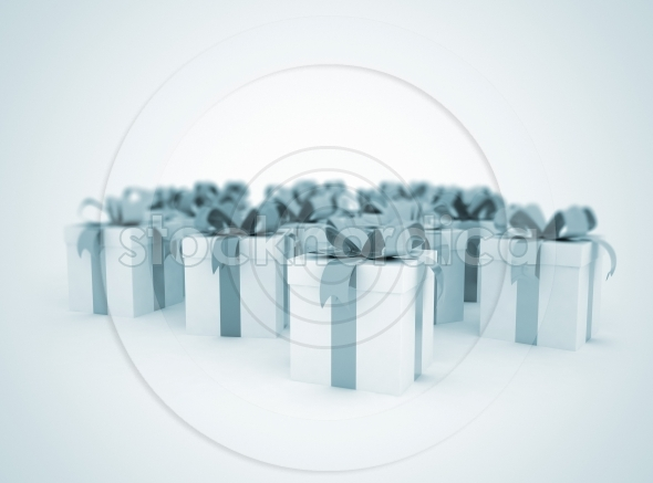 Gift boxes celebration background