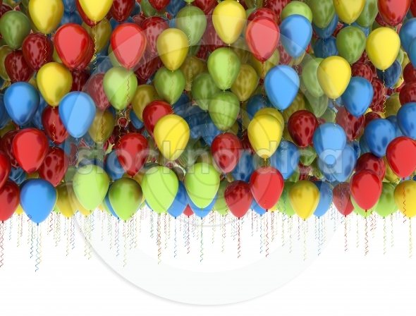 Birthday Party Balloons multi colors