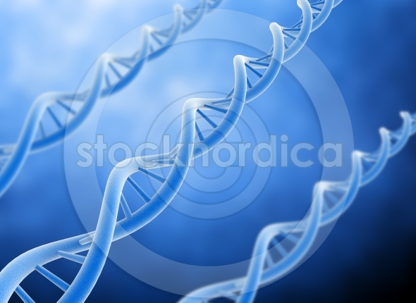 Dna 3d illustration – double helix dna