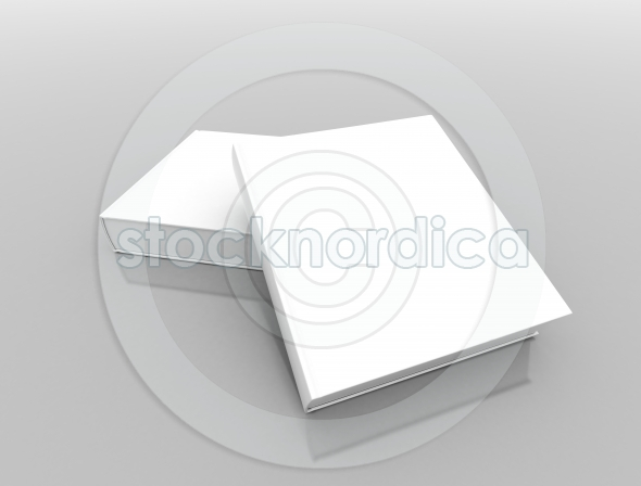 Two blank book covers – Stock Photo