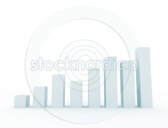Business graph simple 3d design