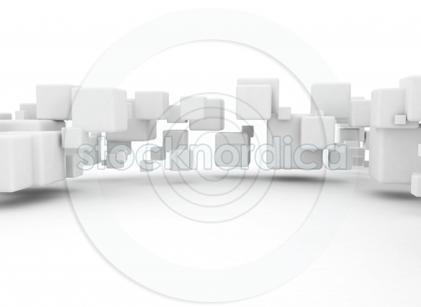 3D cubes abstract digital background