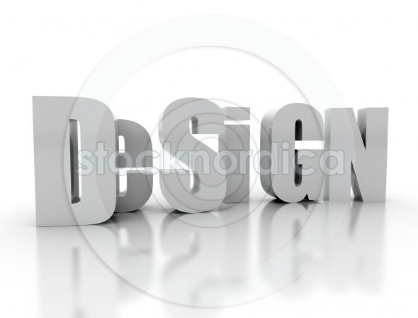 Design spelled out in 3d letters