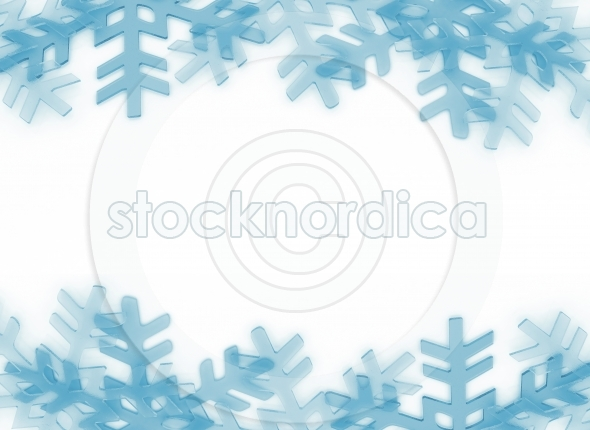 Snow Flakes Crystals Frame