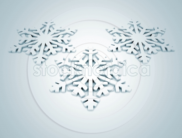 3d snow flakes background