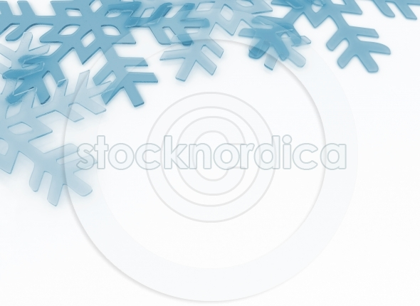 Crystal blue snow flakes