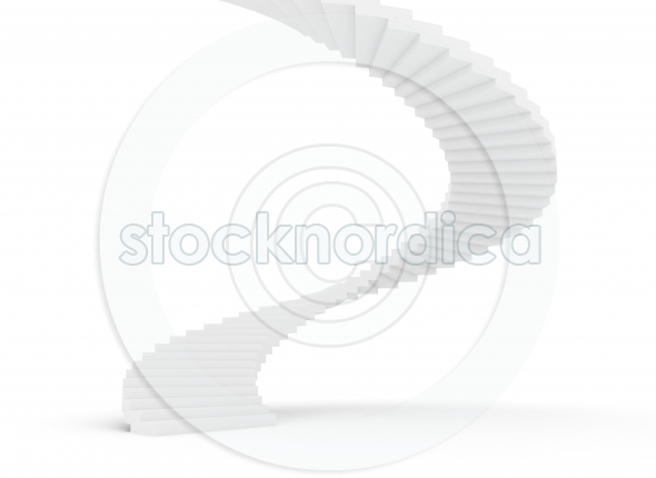 Spiral staircase on white background