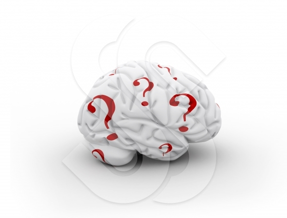 Questions marks and human brain