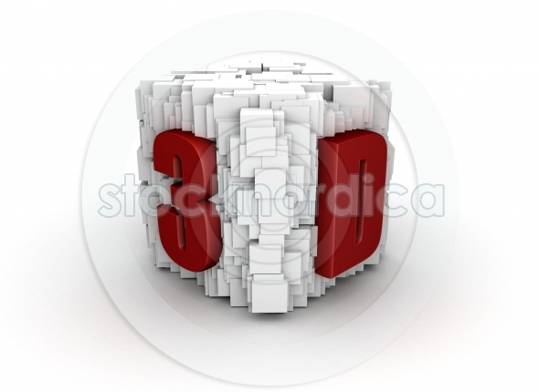 Abstract 3d text presentation