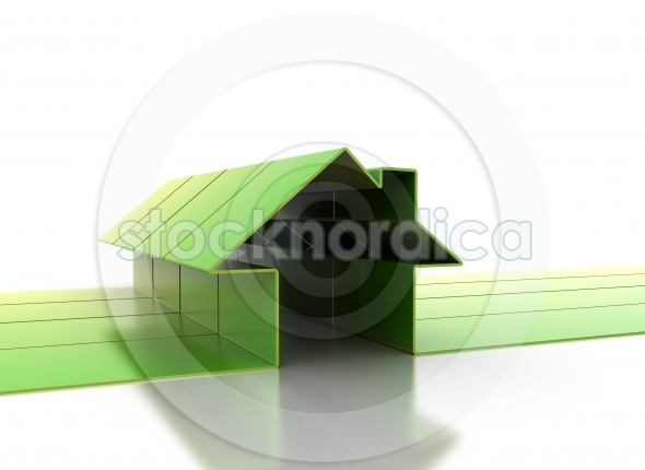 House symbol 3D background