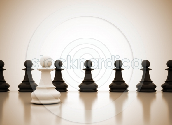 Leadership concept chess background