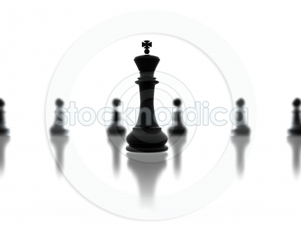 Leadership concept chess illustration