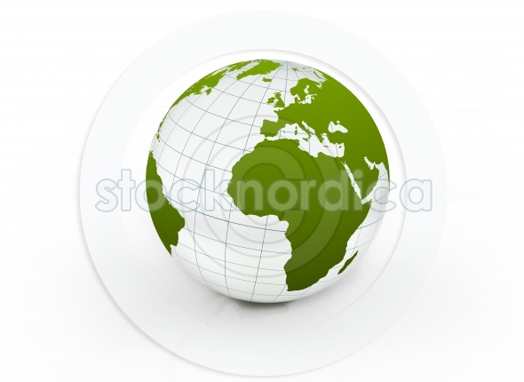World Globe Map Africa and Europe