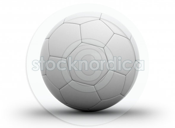 Soccer ball close up on white
