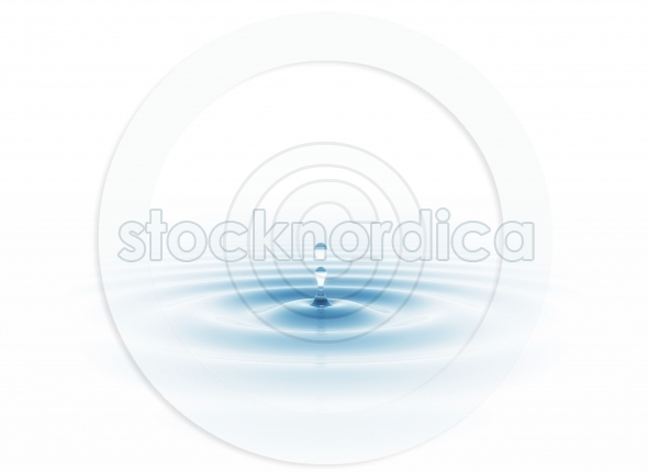 Water drop in sunlight white background