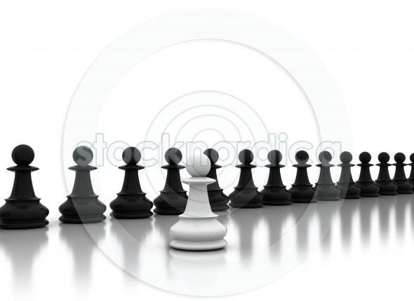 Chess background central figure