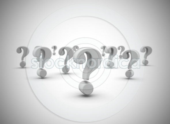 Question Marks Group 3D Background