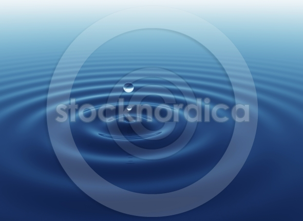 Blue water drop background