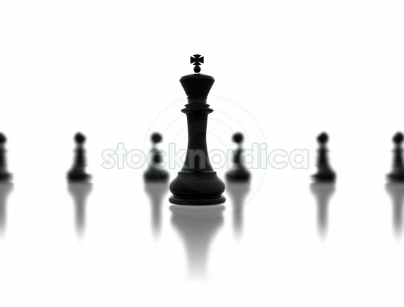Leadership concept chess king