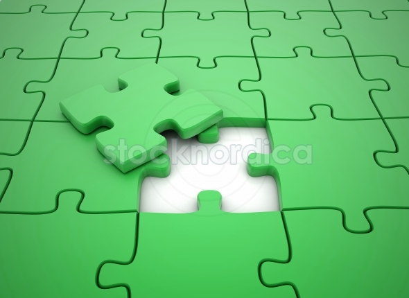 Green puzzle piece – solving the problem