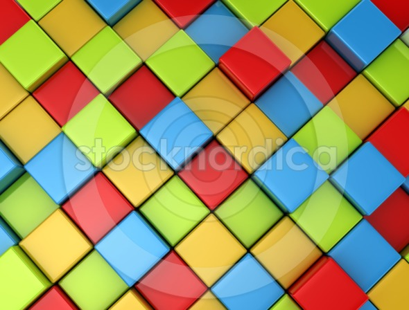 3d multi color cubes background
