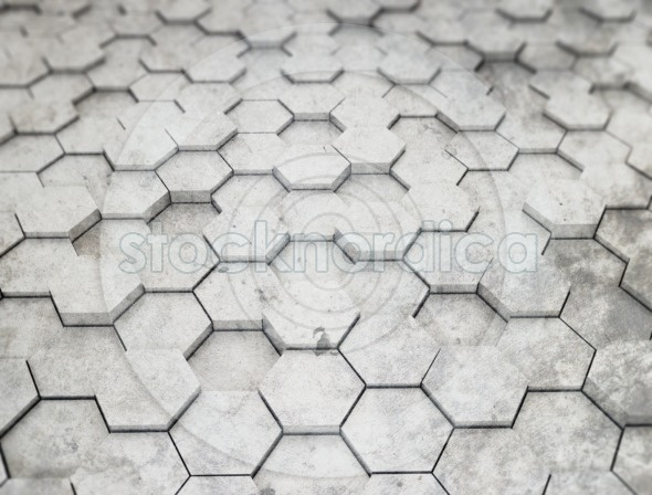 Gray Hexagon 3D Background
