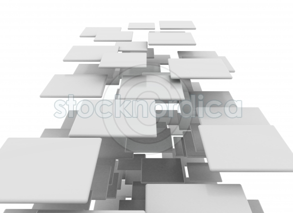 3D Squares blank on white background
