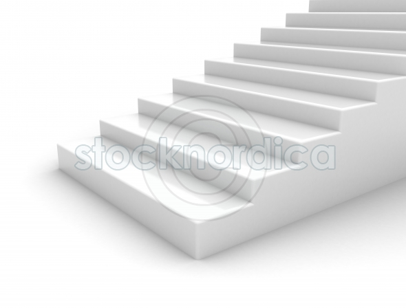 staircase on white