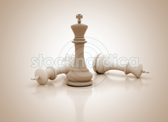 Business success image single chess king standing