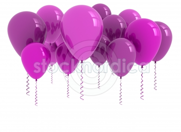 Purple party balloons background