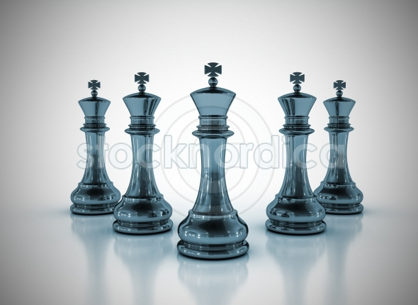 Team work business concept chess kings