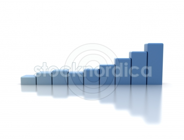 Blue business graph
