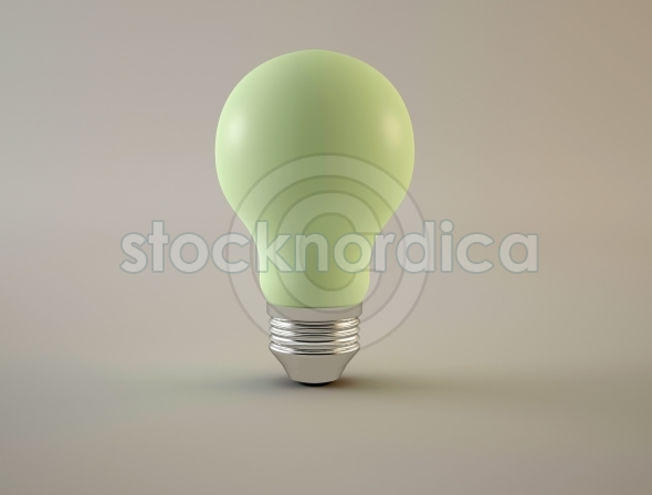 Light bulb green blank surface