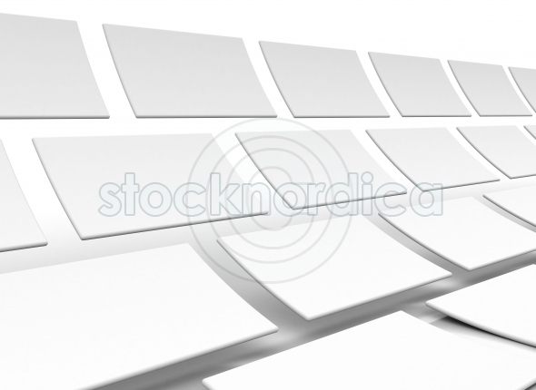 Rectangles blank isolated over a white background