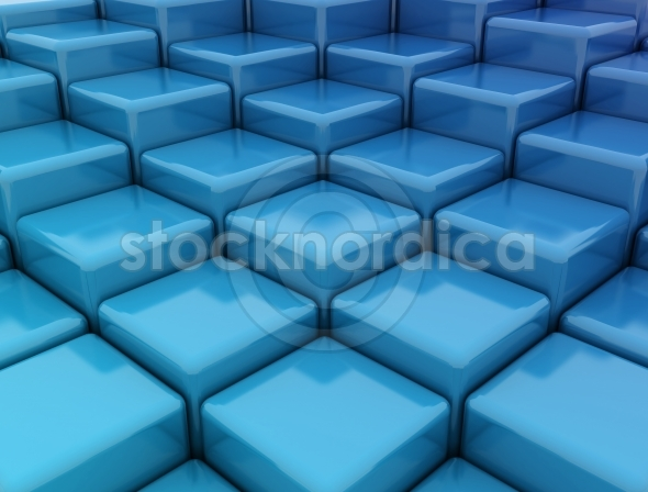 Blue Cubes 3D Background